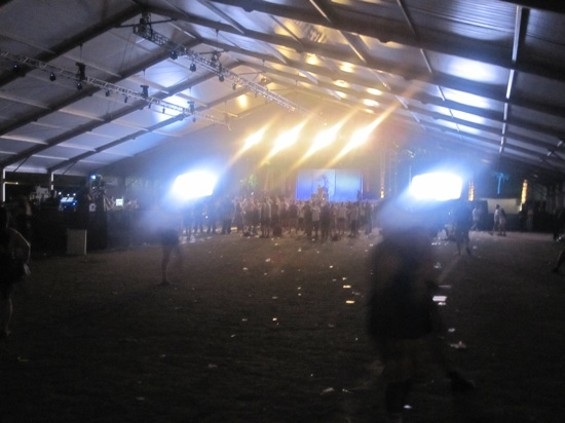 The paltry crowd for Company Flow at Coachella.