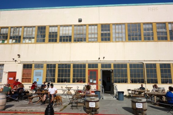The patio at Faction Brewing - FERRON SALNIKER