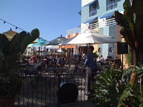 The patio at Miss Pearl's. - SHIRLEY M./YELP