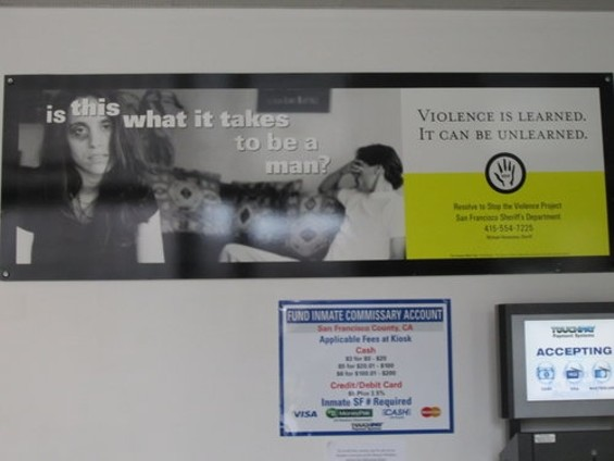 The poster in the lobby of the county jail.