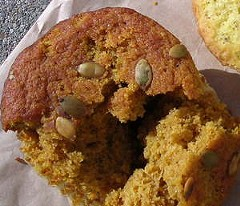The pumpkin muffin: Deeply squashy. - J. BIRDSALL