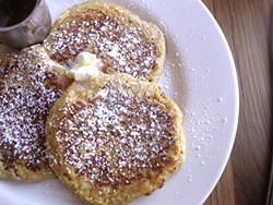 JOHN BIRDSALL - The pumpkin pancakes at Plow eschew the can.