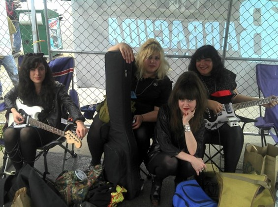The Punkettes, from left to right: Amy Blaustein, Shannon Shaw, Erin Emslie, and Michelle Santamaria