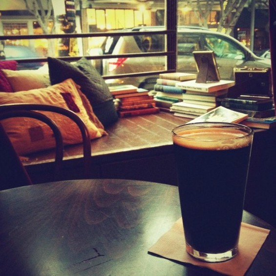 The reading nook at Two Sisters Bar and Books. - JOSH LESKAR