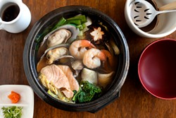 LARA HATA - The restorative hot pot is filled with fish, mushrooms, and a comforting broth.