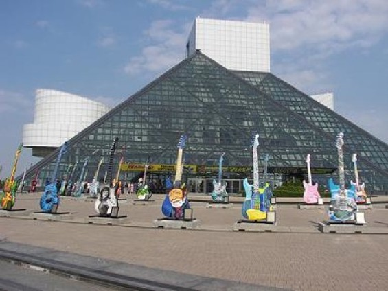 The Rock and Roll Hall of Fame in Cleveland