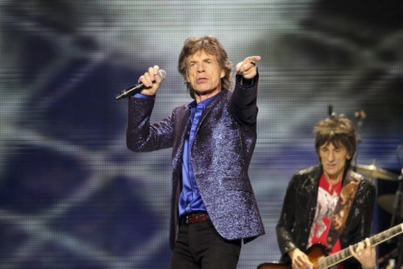 The Rolling Stones at Oracle Arena last night. - CHRISTOPHER VICTORIO