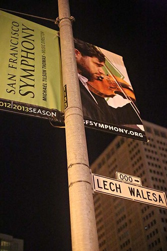 The San Francisco Symphony is on strike and Lech Walesa Street is under attack... - JIM HERD