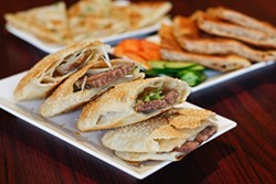 ANNA LATINO - The sesame pancake with beef is one of a dozen traditional Chinese varieties of served.