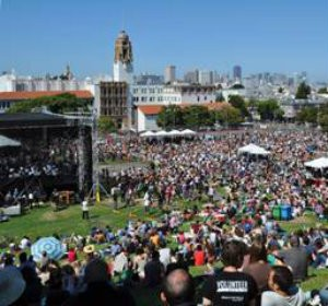 The S.F. Symphony performing in Dolores Park