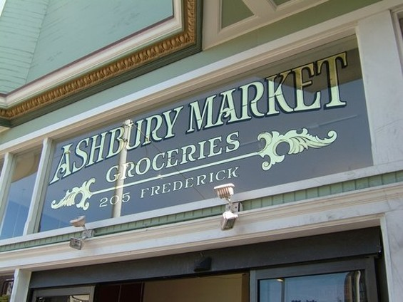The sign over the Ashbury Market. - FADY A./YELP