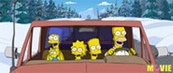 The Simpsons Movie, set in winter, ready for summertime release.
