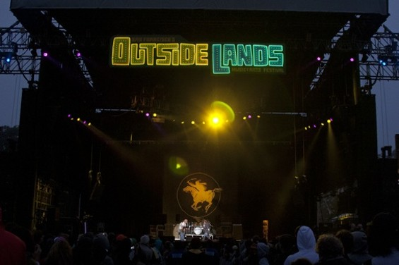 The stage during Neil Young and Crazy Horse's Outside Lands set. Five of the 13 songs Young played were brand new, from his upcoming album with Crazy Horse. - CHRISTOPHER VICTORIO