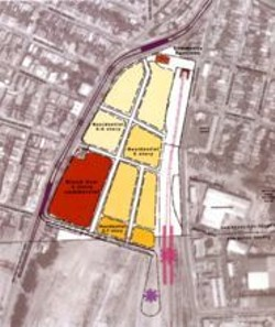 The Strategic Concept Plan zones the highly contaminated southwest section of the site for commercial use only.