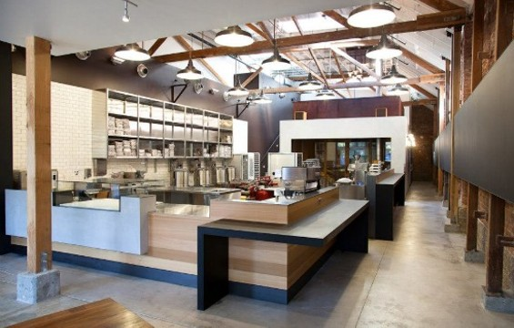 The stylish digs of the Mission's Dandelion Chocolate. - MOLLY DECOUDREAUX PHOTOGRAPHY