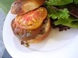 JOHN BIRDSALL - The Summit's 28-hour short rib sandwich on house-baked weck.