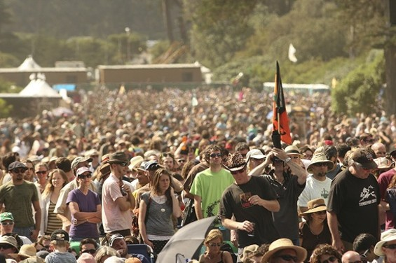 The Sunday crowd at Hardly Strictly