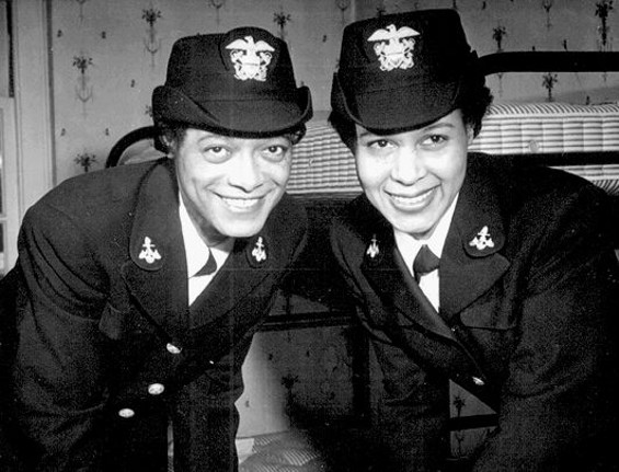 IN NOVEMBER 1944, HARRIET IDA PICKENS AND FRANCES WILLS GRADUATED FROM THE NAVAL RESERVE MIDSHIPMEN'S SCHOOL (WOMEN'S RESERVE) AT NORTHAMPTON, MASSACHUSETTS. COMMISSIONED AS WAVES OFFICERS, THEY WERE THE FIRST FEMALE AFRICAN-AMERICAN U.S. NAV