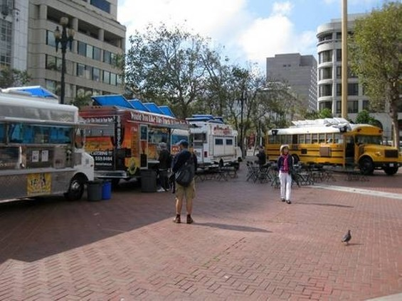 The Thursday street-food market represents the fifth Off the Grid pod. - LUIS CHONG