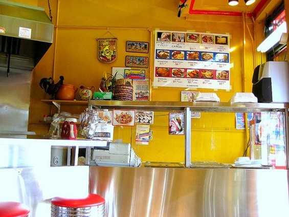 The tiny counter at Mr. Pollo. New chef Manny Torres Gimenez cooked at Quince and Coi. - JOSE C./YELP