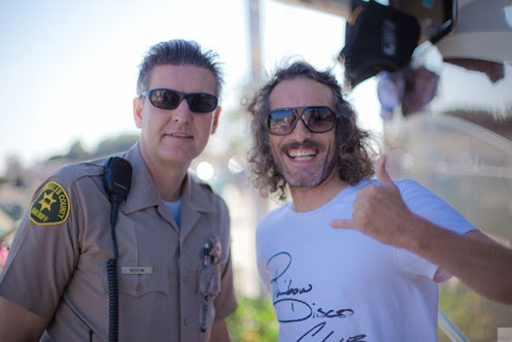 EVEN THE LOS ANGELES COUNTY SHERIFF'S DEPARTMENT LIKES DJ HARVEY.