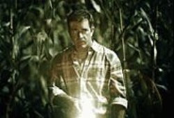 The Truth Is Out There: Mel Gibson searches for little - green men carrying hedge clippers.
