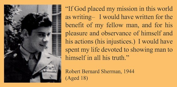 The typed version of Robert B. Sherman's 1944 letter to his parents. - ROBERT J. SHERMAN