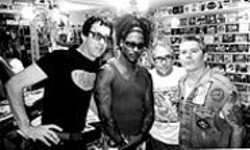 LANDON  GALE-GEORGE - The Un-Dead Kennedys: The courtship of Jello's - replacement (Brandon Cruz, on right).