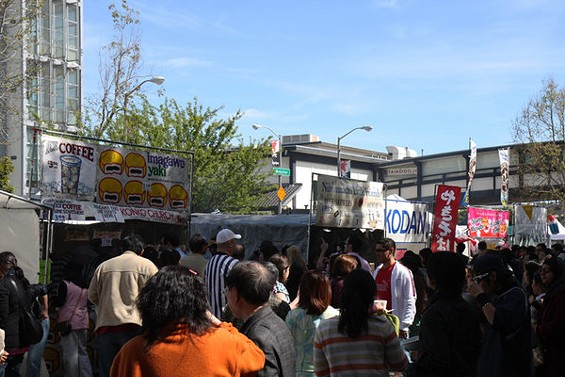 The weekend's Nihonmachi Street Fair in J-Town will offer an array of eats. - LUIS CHONG