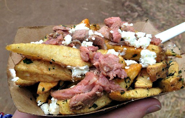 The Whole Beast lamb poutine at Outside Lands 2012. - ANNA ROTH