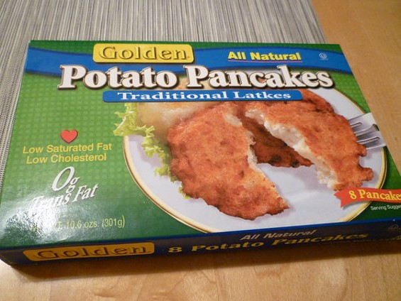 The winner by a shred: Golden Potato Pancakes from Whole Foods. - ALEX HOCHMAN