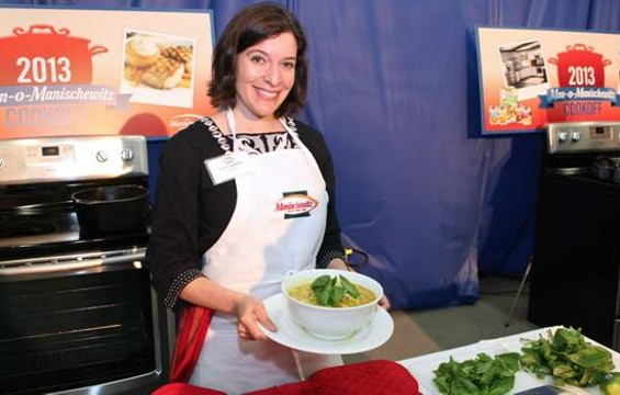 The winner of the Manischewitz Cook-Off Contest and her winning entry, Faux Pho.