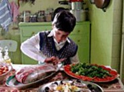 TASSOS  BOULMETIS - The Young Cook: Fanis touches a fish in - the culinary charmer A Touch of - Spice. See Friday.