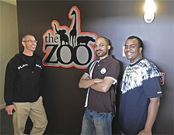 EKAPHOTOGRAPHY - The Zoo crew (left to right): Chris Cuevas, Namane Mohlabane, and Bedrock.