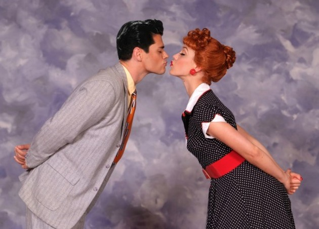 Thea Brooks as Lucy and Euriamis Losada as Ricky in I Love Lucy® Live On Stage - ED KRIEGER
