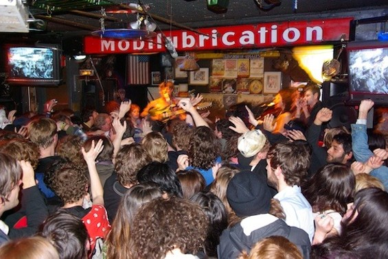 Thee Oh Sees performing at the Eagle Tavern.