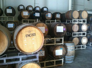 There's beer in these barrels