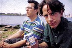 They Sure Are Giants: You can dance to the - music of John Flansburgh (left) and John - Linnell, provided no one's watching.