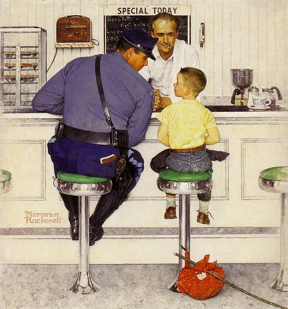 This cop didn't run the kid's name through Google, either - NORMAN ROCKWELL