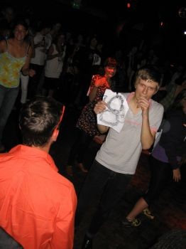 """This dude really, really wanted to win. He air humped another dude on the dance floor. - THE WINNER OF ROUND 1, WHO BEAT OUT THE COMPETITION, AS JELLO PUT IT, """"BY A DREADLOCK""""."""