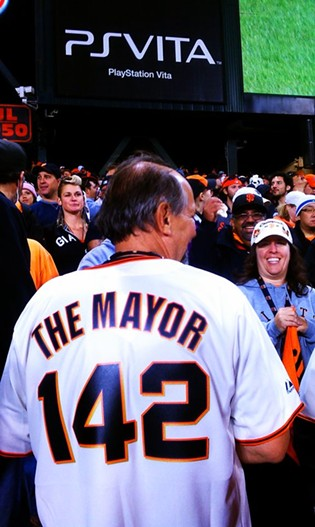 This guy may be mayor of the bleachers, but Marco Scutaro is king. - JOE ESKENAZI