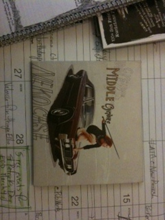 This is my copy of Middle Cyclone. You can't have it. But you can maybe have the car.