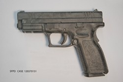 This is one of the gun's police recovered at the scene