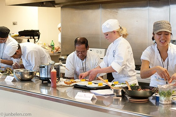 Three chefs from both the professional and amatuer divisions competed in Saturday's final at the Metreon. - JUN BELEN