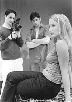 DAVID  ALLEN - Three's a crowd  in Tape, Stephen Belber's drama about a trio  of reunited high-school friends.