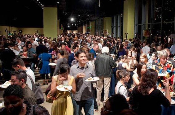 Thursday night's DISH dining event at the Metreon: Big crowds, big gaps in the food. - GIL RIEGO JR./SF WEEKLY