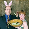 Tim Hendrixson and Mary Knoll take a bite out of dinner theater in <i>Theater You Can Eat</i>