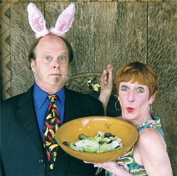 JOHN PATRICK MOORE - Tim Hendrixson and Mary Knoll take a bite out of dinner theater.
