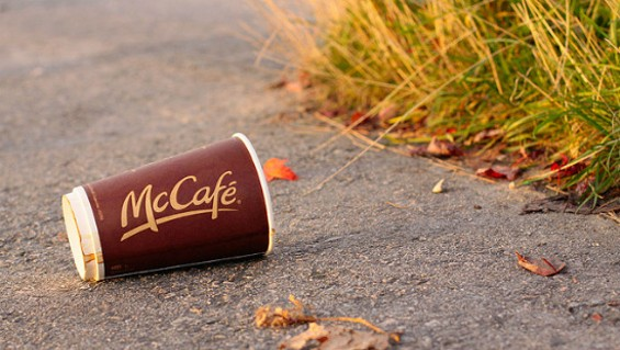 To be fair, if we were given McDonald's coffee we might throw it on the ground too. - FLICKR/WAFERBOARD