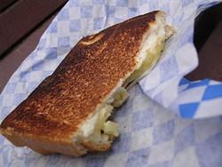 Toasty Melts' three-cheese original, circa 2009. - JOHN BIRDSALL